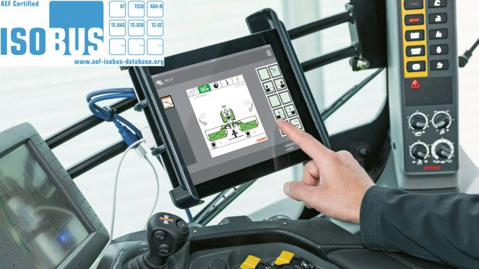 Application mobile - Claas Easy on Board permet de piloter tous les outils Isobus de l'exploitation