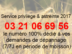 Service privilège & astreinte 2017