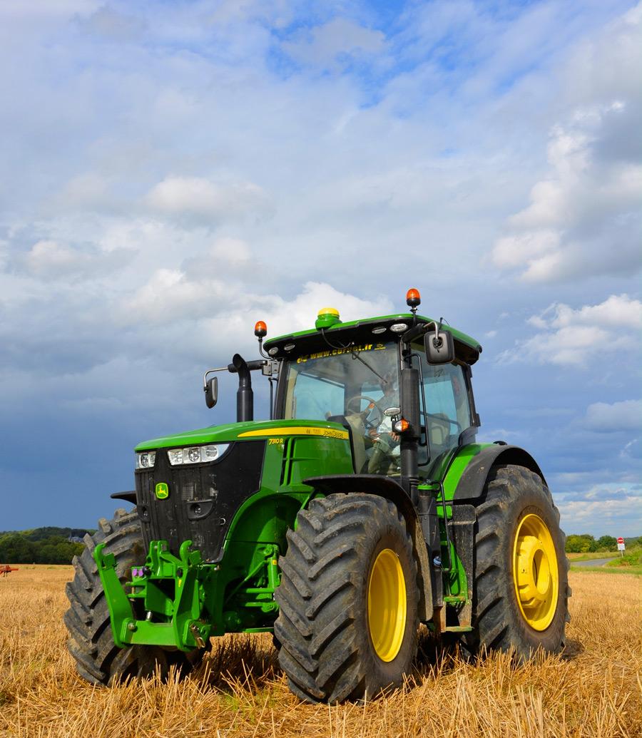 Essai du tracteur John Deere 7310 R - Braquage à l'américaine