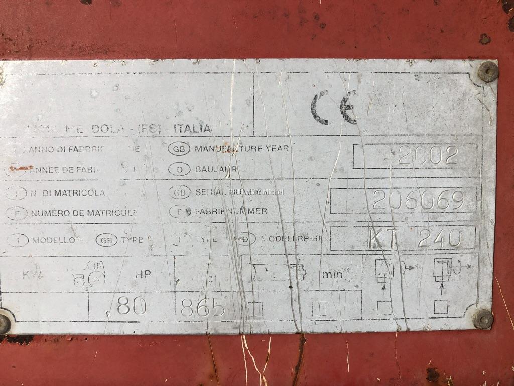 Perugini KT 240 poussé ou tiré
