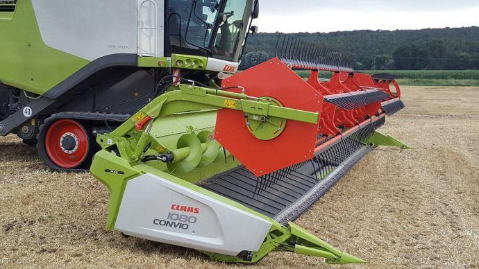 Barre de récolte à tapis - Claas Convio Flex: du caoutchouc pour doper l'appétit des Lexion!