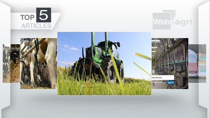 Top articles - Le Deutz-Fahr 6165-4 TTV et l'alimentation des vaches laitières à la Une
