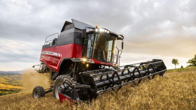 Moissonneuse-batteuse - Lestêtes de récolte Geringhoff équipent les machines Massey Ferguson