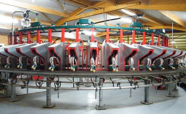 Roto de traite extérieure 56 postes chèvres