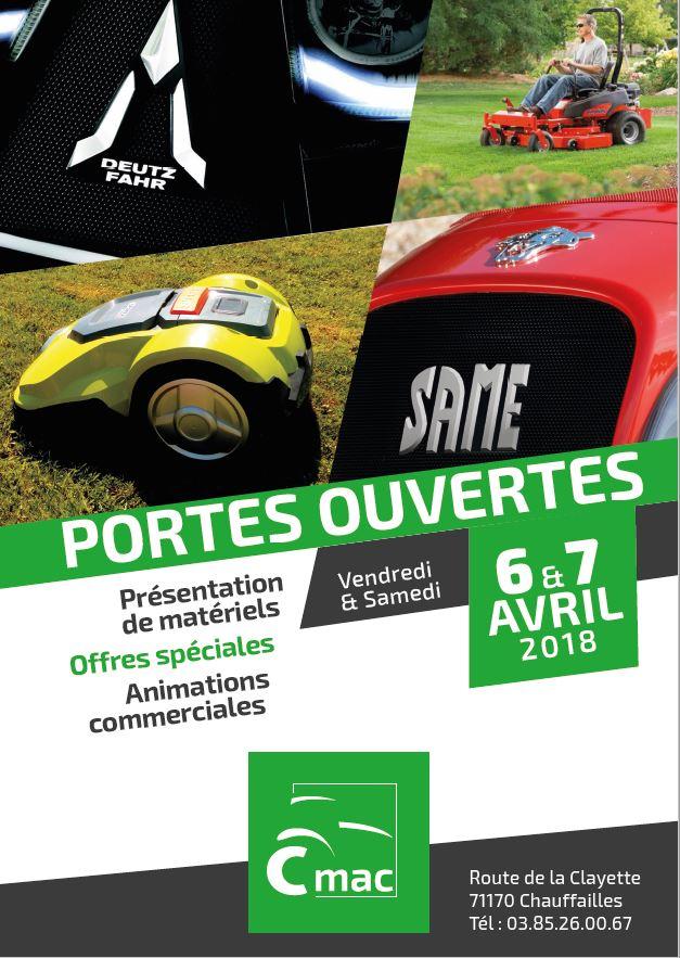 Portes Ouvertes CMAC - 6 & 7 Avril 2018