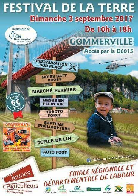 Festival de la Terre à Gommerville Dimanche prochain