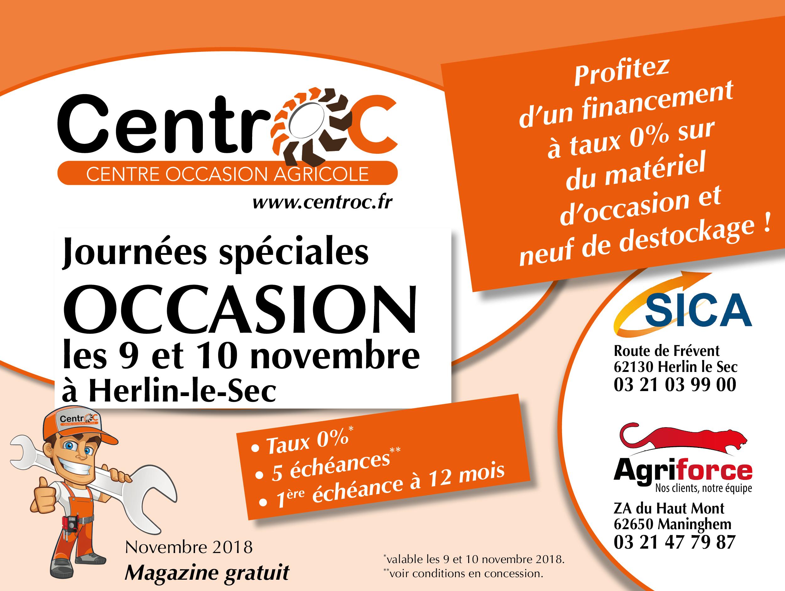 Catalogue Centroc Journées Spéciales Occasion