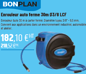BON PLAN: ENROULEUR AUTO FERME 30m 03/8 LCF